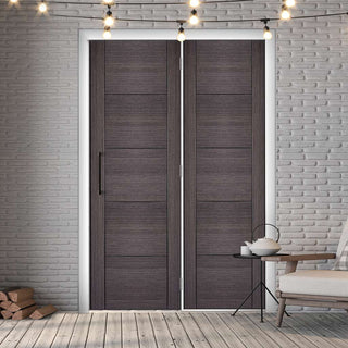 Image: ThruEasi Room Divider - Vancouver Flush Ash Grey Prefinished Door with Single Side - 2018mm High - Multiple Widths