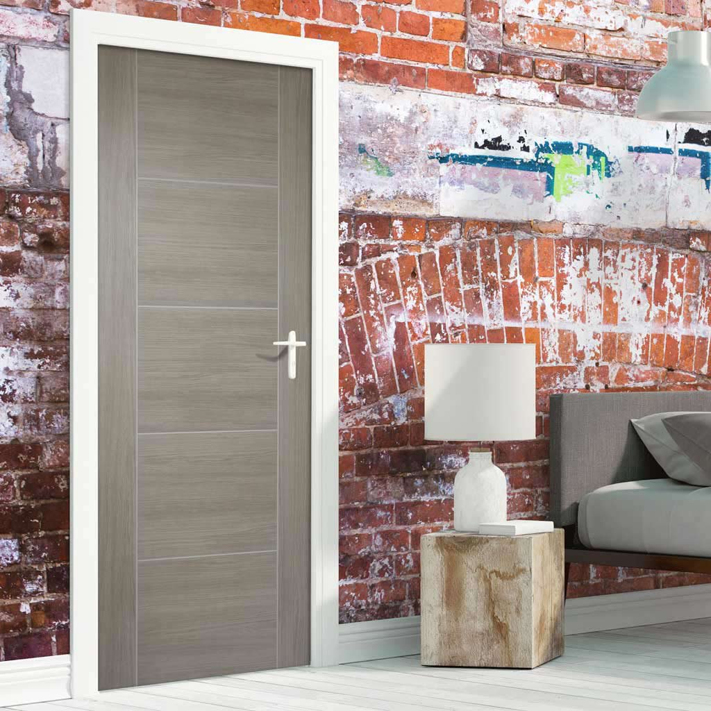 Laminate Vancouver Light Grey Fire Door - 1/2 Hour Fire Rated - Prefinished