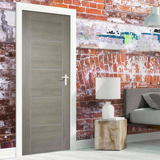 Image: Laminate Vancouver Light Grey Fire Door - 1/2 Hour Fire Rated - Prefinished
