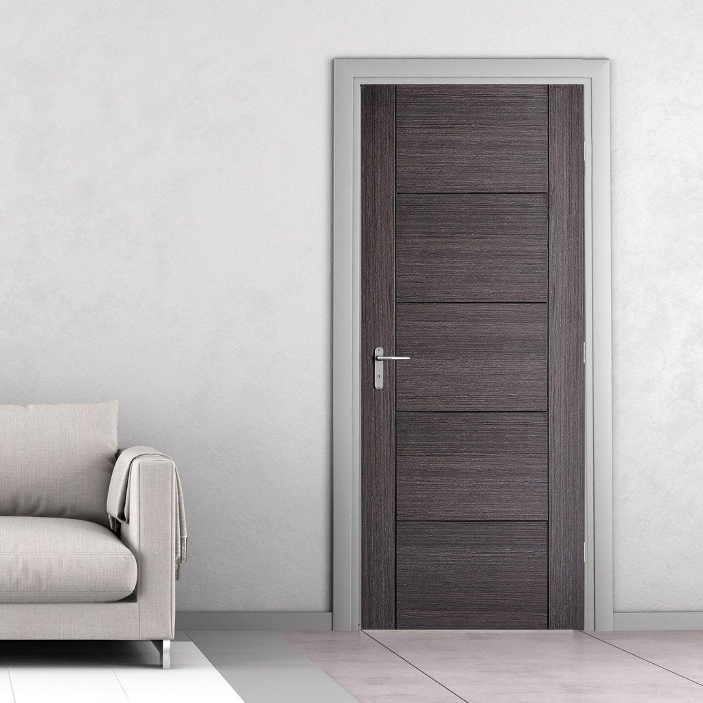 Vancouver Ash Grey Internal Door - 1/2 Hour Fire Rated - Prefinished