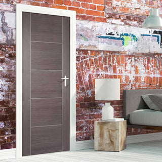 Image: Laminate Vancouver Medium Grey Door - Prefinished