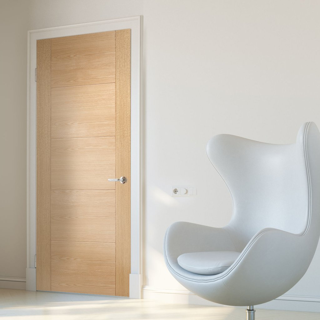 Bespoke Vancouver Oak 5P Style Flush Door - Prefinished