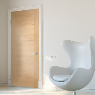 Image: Bespoke Vancouver Oak 5P Style Flush Door - Prefinished
