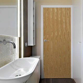 Image: Interior bathroom door oak veneered
