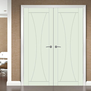 Image: Prefinished Verona Flush Door Pair - Choose Your Colour