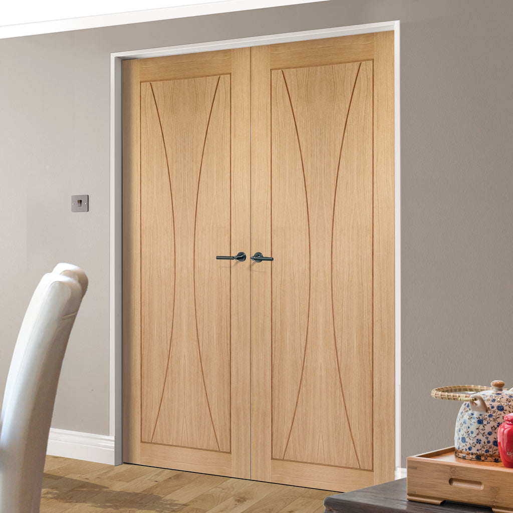 Verona Oak Flush Door Pair