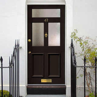 Image: Exterior Nightingale Victorian Nightingale Made to Measure Door - Fit Your Own Glass - 3 Pane