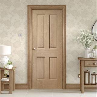 Image: Bespoke oak veneer interior door