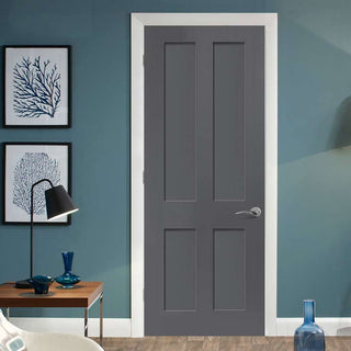Image: Shaker stye four panel interior door design