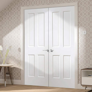 Image: Victorian White Door Pair - Prefinished