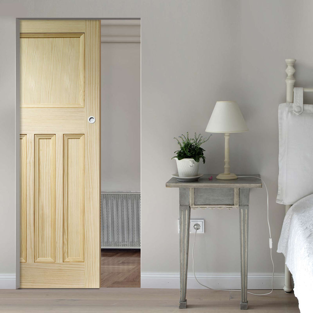 Vine DX Clear Pine Solid Absolute Evokit Pocket Door