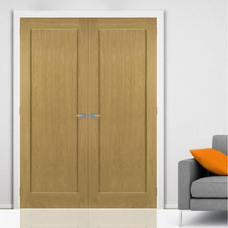 Image: Walden Real American Oak Veneer Door Pair - Unfinished