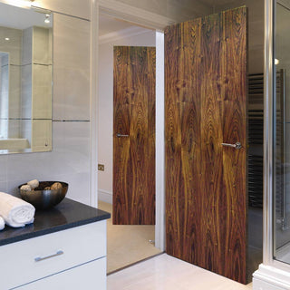 Image: J B Kind Walnut Flush Fire Door - 1/2 Hour Fire Rated - Prefinished