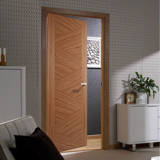 Image: Zeus Walnut Internal Fire Door - 1/2 Hour Fire Rated - Prefinished