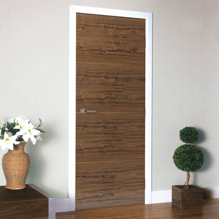 Image: Flush interior walnut veneer door