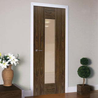 Image: Image of flush walnut inteior door