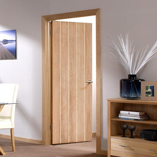 Image: LPD Joinery Fire Door, Wexford Oak Panel - 1/2 hour Fire Rated