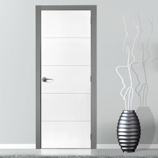 Image: Limelight Adelphi White Primed Flush Fire Door is 1/2 Hour Fire Rated