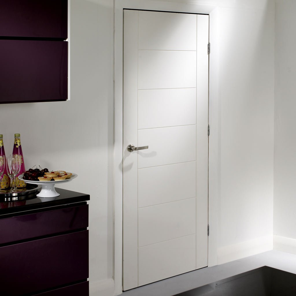 Fire Proof Palermo Fire Door - 1/2 Hour Fire Rated - White Primed