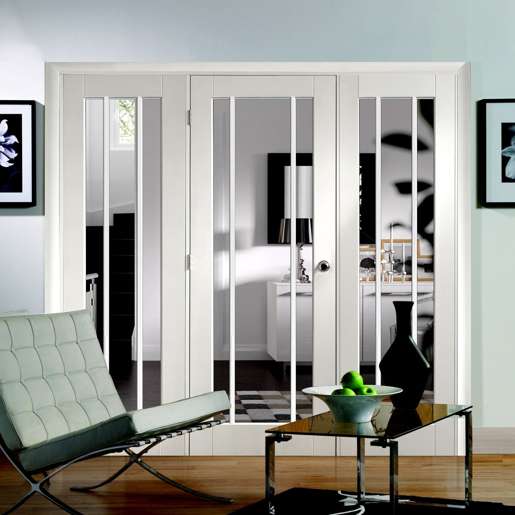Easi-Frame White Door Set - GWPWOR-COEOP27 - 2005mm Height - 2138mm Wide.