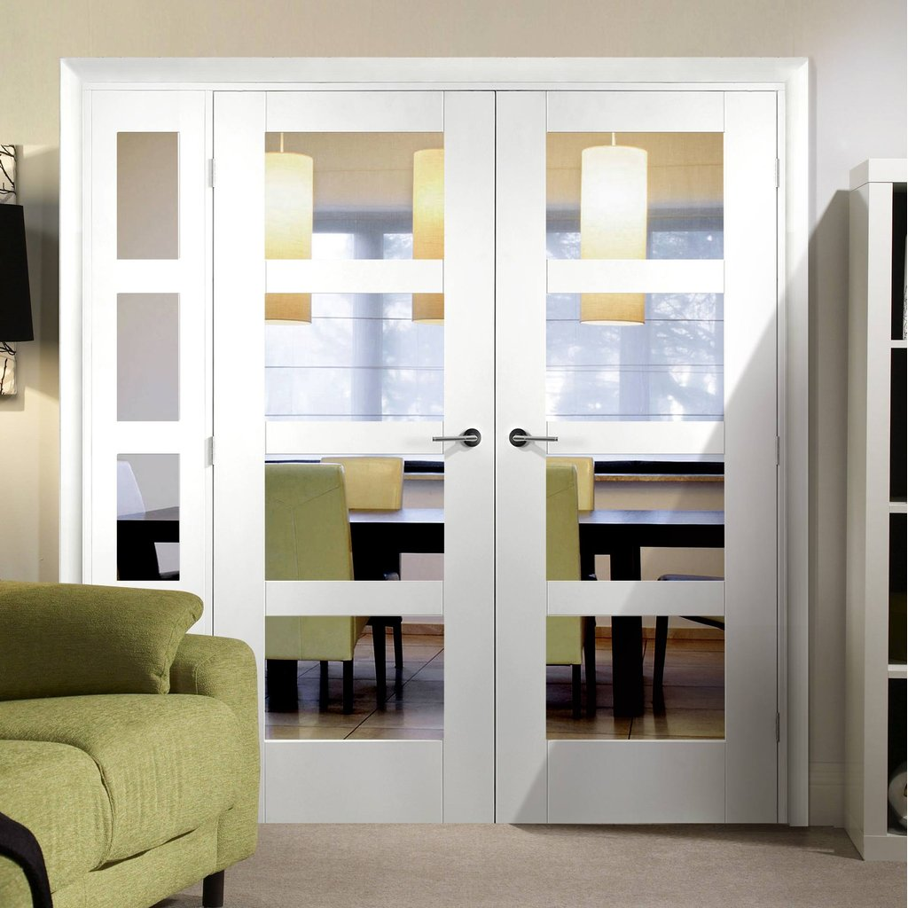 Easi-Frame White Door Set - GWPSHA4L-COEOP10L - 2005mm Height - 1737mm Wide.