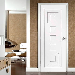 Image: Altino Flush Door - White Primed - From Xl Joinery