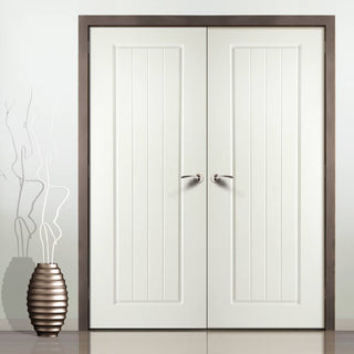 Image: Samantha Internal PVC Panel Door Pair
