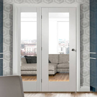 Image: Easi-Frame White Primed Door Set - GWPP10-COEOP33L - 2005mm Height - 1508mm Wide.