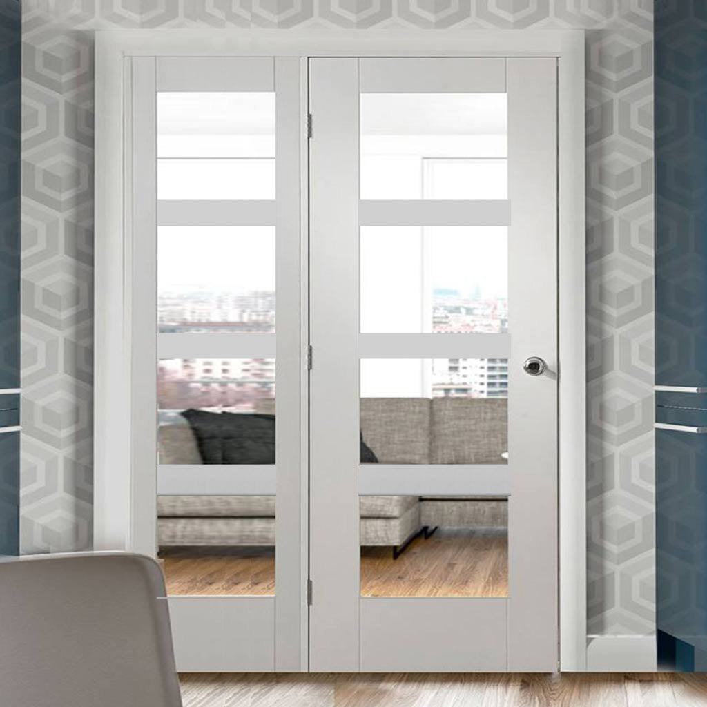 Easi-Frame White Primed Door Set - GWPSHA4L-COEOP33L - 2005mm Height - 1432mm Wide.