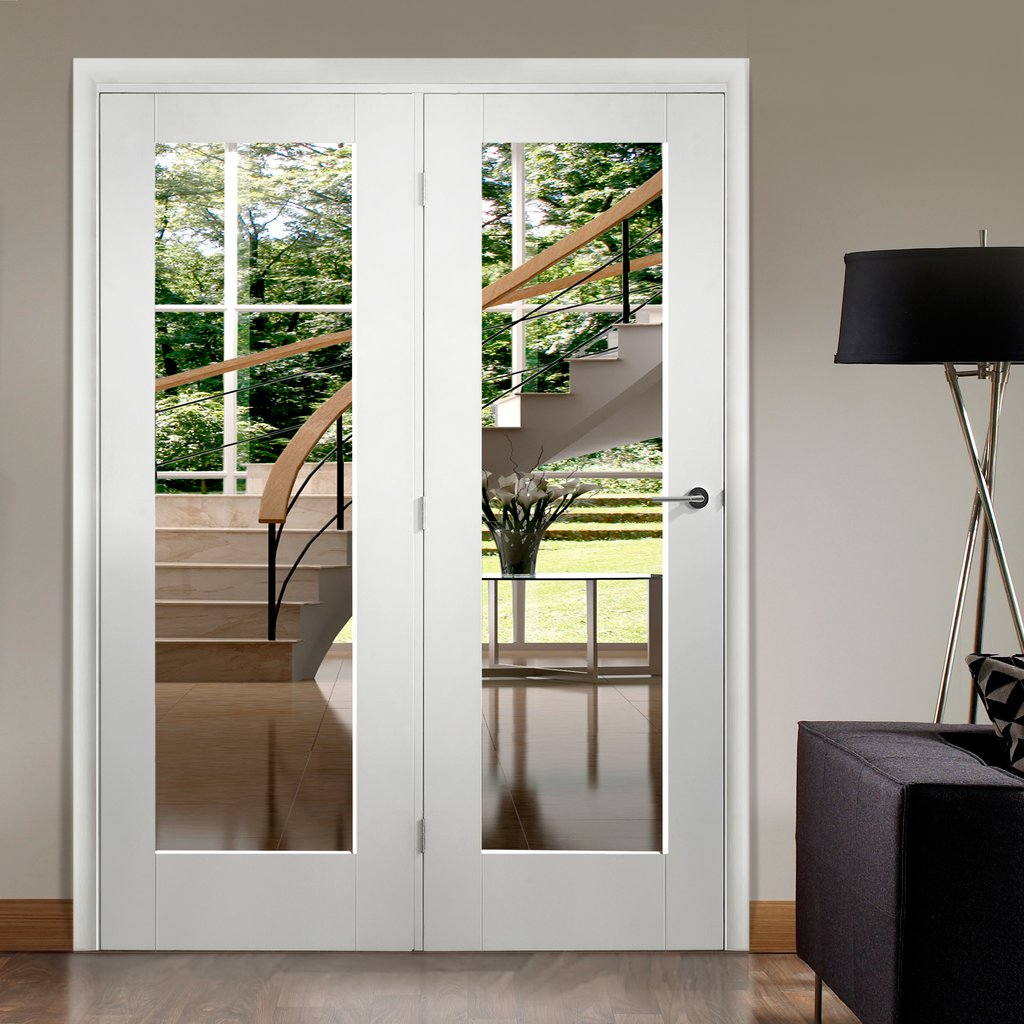 Easi-Frame White Door Set - GWPP10-COEOP35L - 2005mm Height - 1660mm Wide.