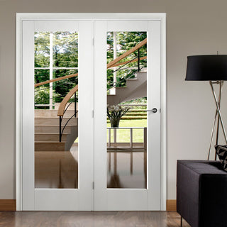 Image: Easi-Frame White Door Set - GWPP10-COEOP35L - 2005mm Height - 1660mm Wide.