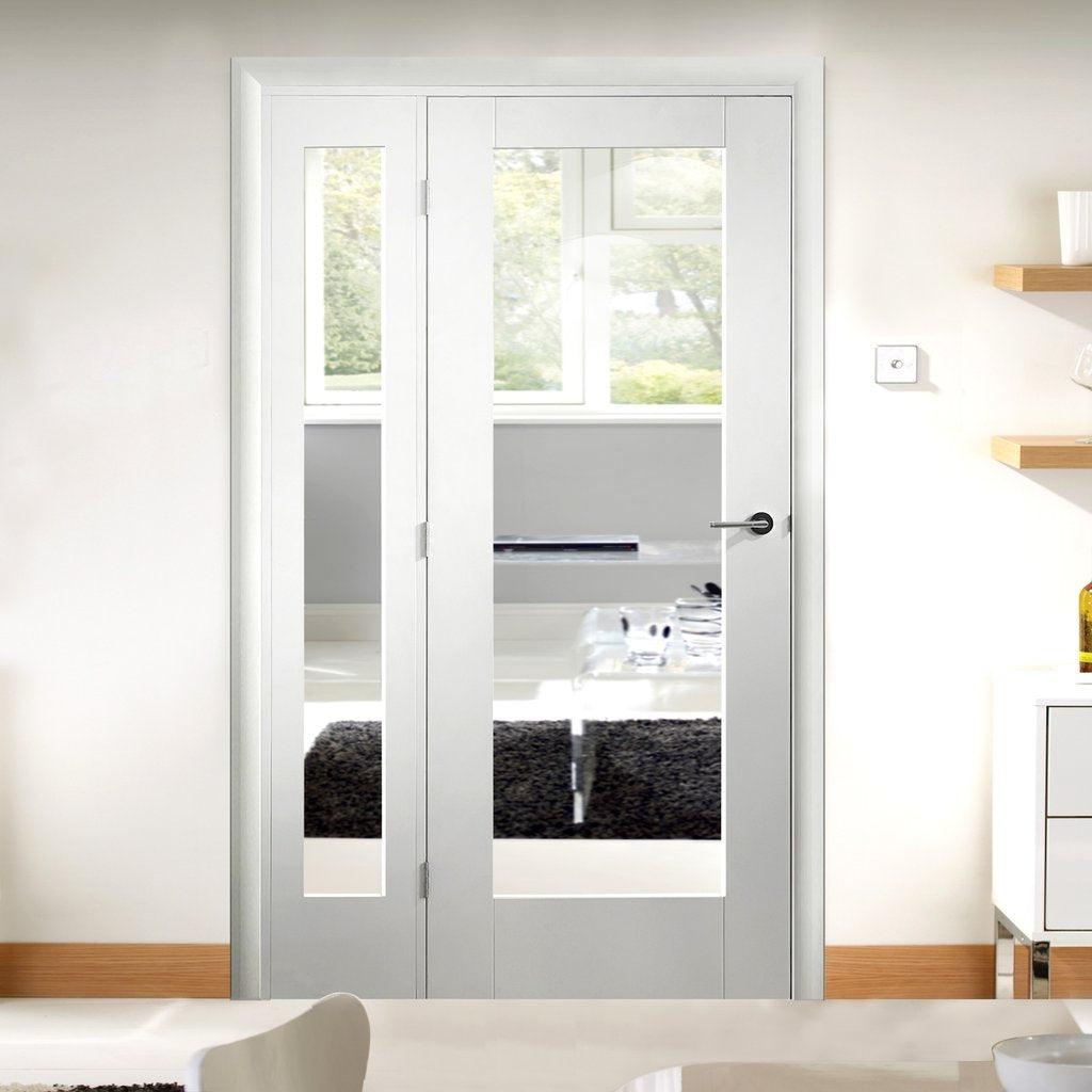 Easi-Frame White Door Set - GWPP10-COEOP36L - 2005mm Height - 1203mm Wide.