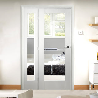 Image: Easi-Frame White Door Set - GWPP10-COEOP36L - 2005mm Height - 1203mm Wide.