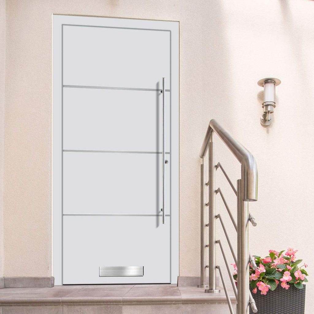 External Spitfire Aluminium S-200 Door - 1315 Stainless Steel - 7 Colour Options