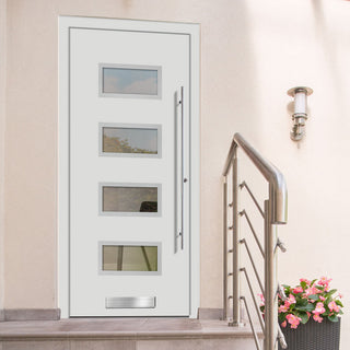 Image: External Spitfire Aluminium S-200 Door - 1362 Stainless Steel - 7 Colour Options