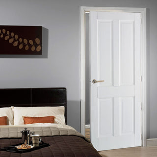 Image: Canterbury 4 Panel DSN Shaker Door - White Primed