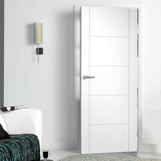 Image: Vancouver Flush Door - White Primed