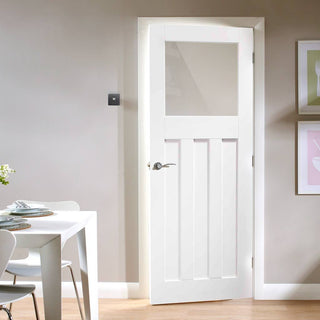 DX 1930u0027s Glazed Door   Obscure Glass   White Primed