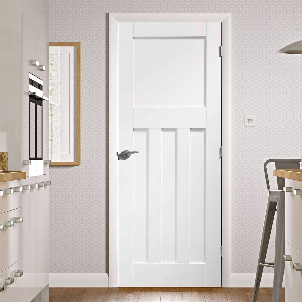 DX 1930's Panel Door - White Primed