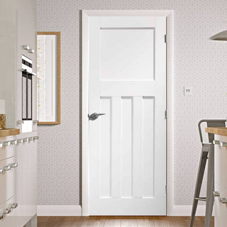 Image: Bespoke DX 1930's Panel Door - White Primed - From Xl Joinery