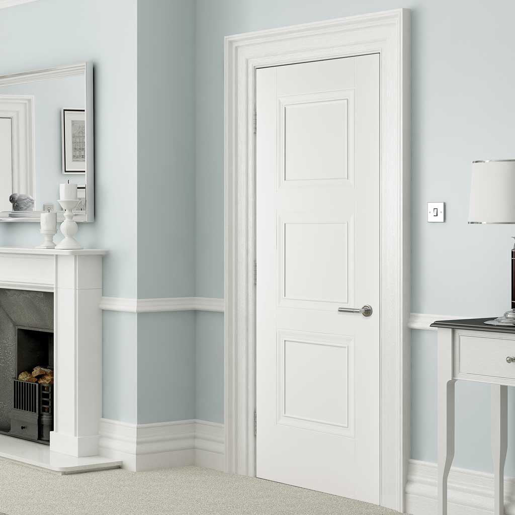 Amsterdam 3 Panel Door - White Primed