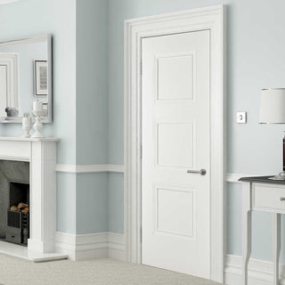 Image: Amsterdam 3 Panel Door - White Primed