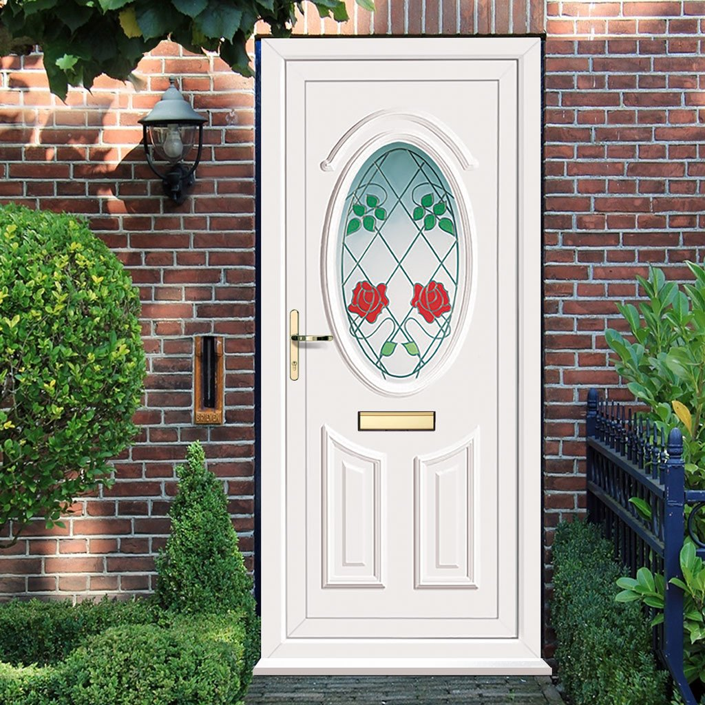 External Pvc Doon Climbing Rose Door