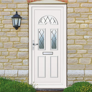 Image: Exterior Pvc Lomond Three Diamond Lead Door