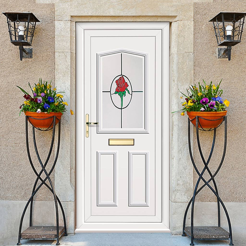 External Pvcu Melfort Country Rose Door