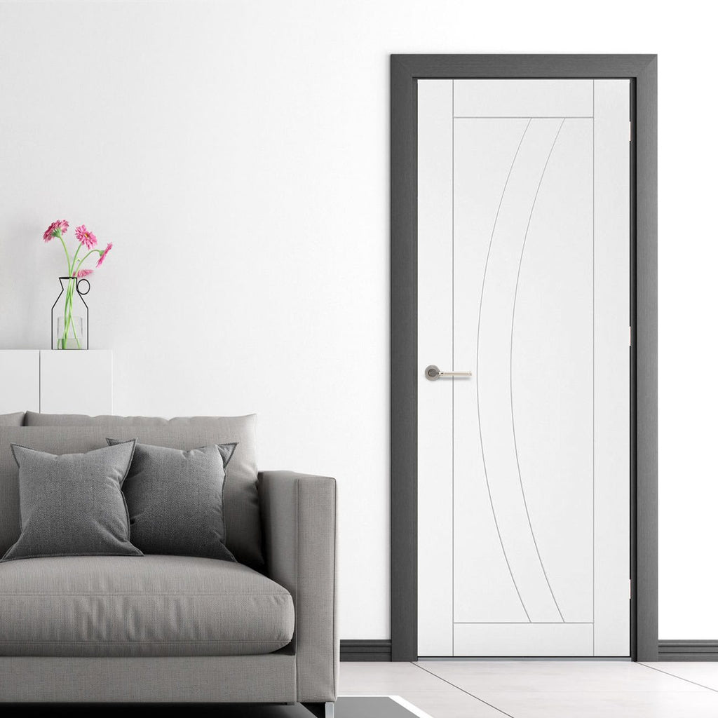 Bespoke Ravello White Primed Fire Door - 1/2 Hour Fire Rated - Prefinished