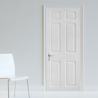 Image: smooth 6 panel door white primed