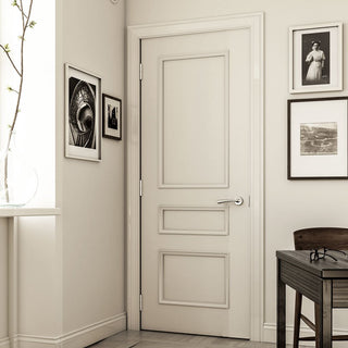 Image: Windsor White Primed Panel Door from Deanta UK