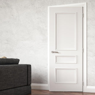 Image: Windsor White Primed Fire Door - 1/2 Hour Fire Rated
