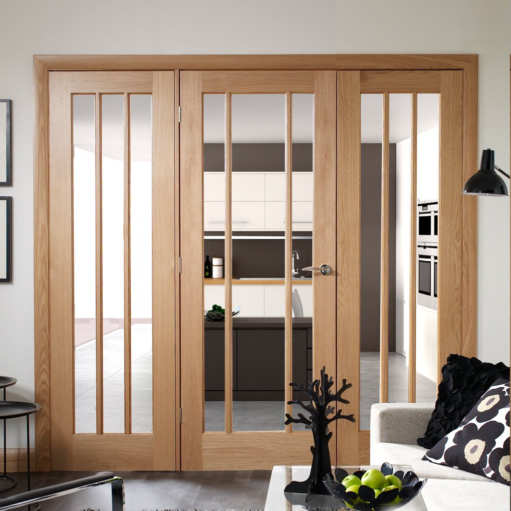 Easi-Frame Oak Door Set - GOWOR-COEOP23 - 2005mm Height - 2214mm Wide.